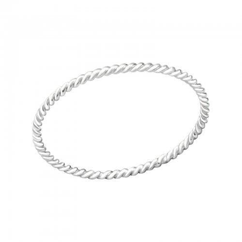 Sormus - Twisted - 0.9 mm x 0.9 mm - Sterling Hopea 925 - 6 - Samaskoru.fi