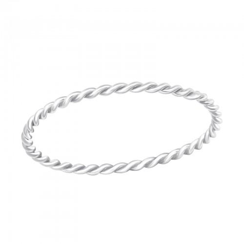 Sormus - Twisted - 1.15 mm x 1.15 mm - Sterling Hopea 925 - 9 - Samaskoru.fi