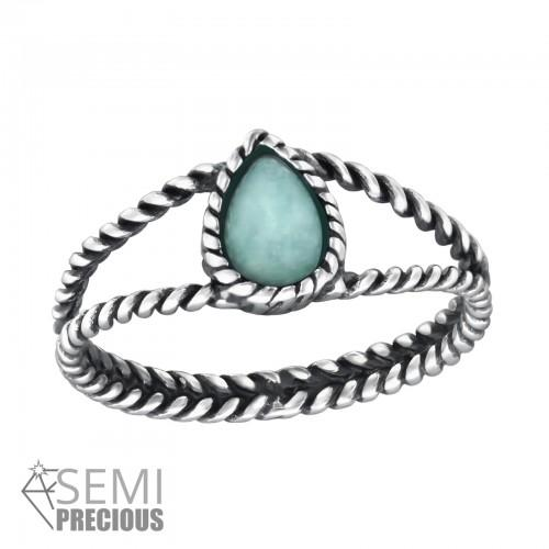 Sormus - Twisted Band - mm x 8 mm - Sterling Hopea 925 - 6 - Samaskoru.fi