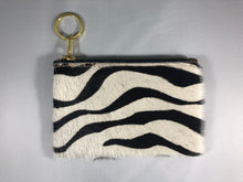 Load image into Gallery viewer, Calf Hair and Italian Leather Keychain Bag
