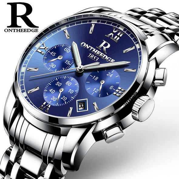 Authentic business men's watch luminous waterproof precision imported six multifunctional steel needle - Bestgoodshop