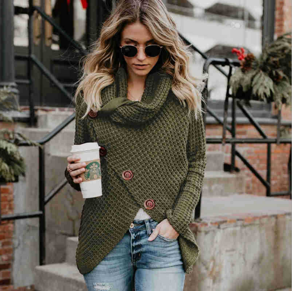 Long-sleeved women's sweater - Bestgoodshop