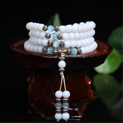 Natural crystal multi-layer bracelet