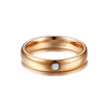 Rose Color Gold Tungsten Carbide Couple Ring For Men Women - Bestgoodshop