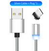 Magnetic LED charging cable for iPhone X XR XS Max 8 7 Micro USB cable USB charger charger / C-line for Samsung Xiaomi USB cable - Bestgoodshop