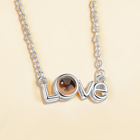 I love you 100 languages love memory projection necklace - Bestgoodshop