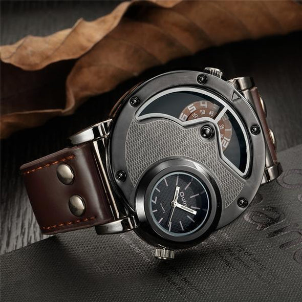 Trend men's watch two places personality sports watch - Bestgoodshop