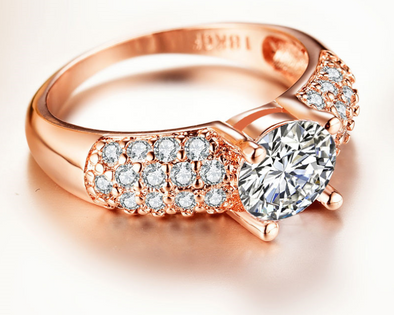 Platinum rose gold trend ring