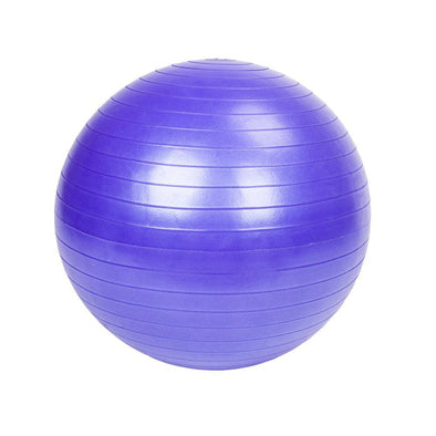 65cm 1050g Gym/Household Explosion-proof Thicken Yoga Ball Smooth Surface Purple - Bestgoodshop