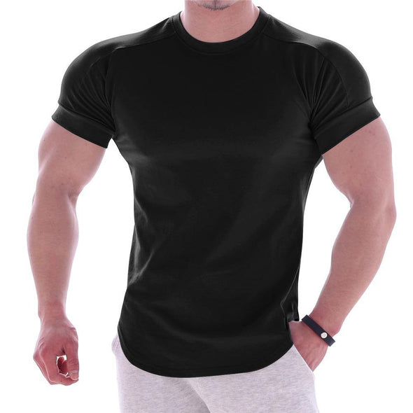 Tight-fitting short-sleeved sports T-shirt