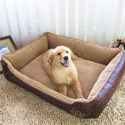 Pet kennel washable four golden retriever dog pet nest pad - Bestgoodshop