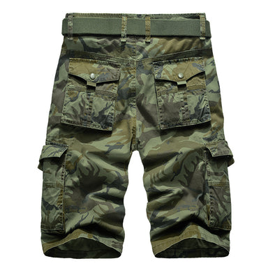 Cotton camouflage tooling shorts male more relaxed pocket pants