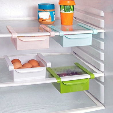 Household plastic can be hung the refrigerator partition layer to organize and accept storage rack kitchen