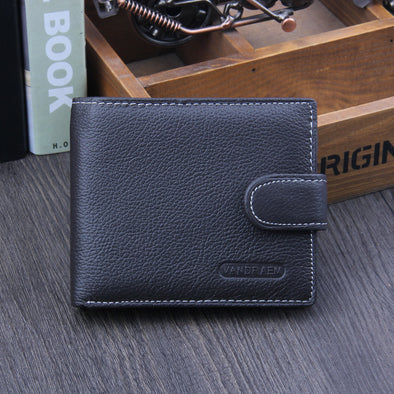 Men's wallet, real skin, short money