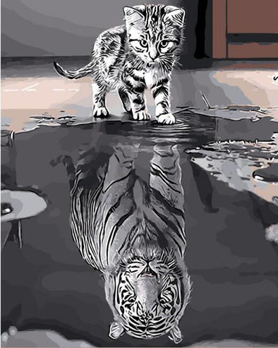 Cat to Tiger Painting - Bestgoodshop