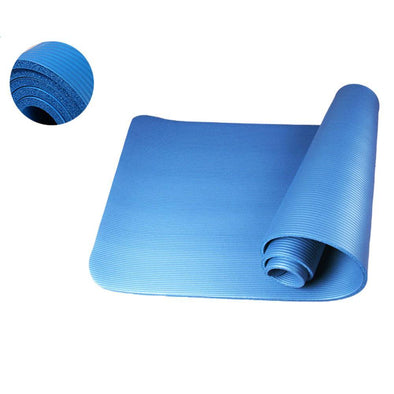 8mm Thickened NBR Pure Color Anti-skid Yoga Mat 183x61x0.8cm Blue - Bestgoodshop