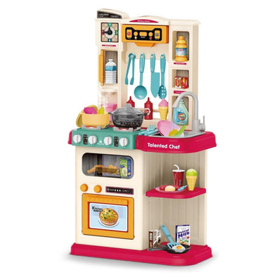 Role Play Kids Kitchen Playset With Real Cooking Spray And Water Boiling Sounds - Bestgoodshop