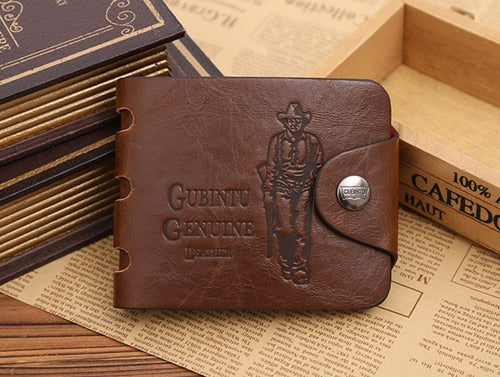 Tri-fold European and American hipster men's antique retro multi-card wallet - Bestgoodshop