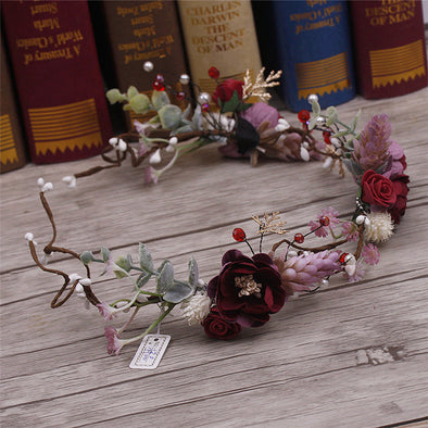 Handmade For bride flower headdress wreath wedding
