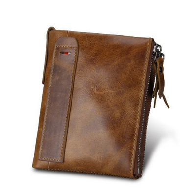 Mens wallet Short Wallet Anti-theft And brush