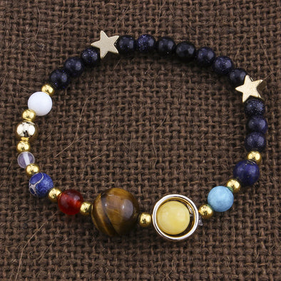 Exploding universe, Star Bracelet, natural stone bead bracelet for Men, Women