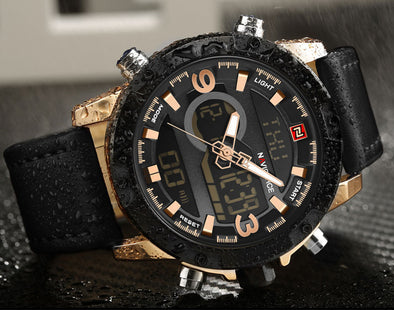 Casual quartz watch men's waterproof watch