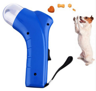Dog feeder pet food catapult PET TREAT LAUNCHER dog toy cat toy funny