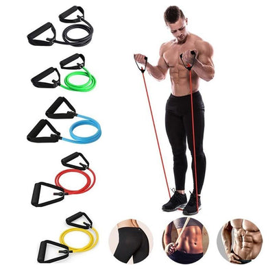 25Ib Resistance Bands Home Multi-Function Leg Arm Expansion Strength Training Elastic Yoga Band - Bestgoodshop