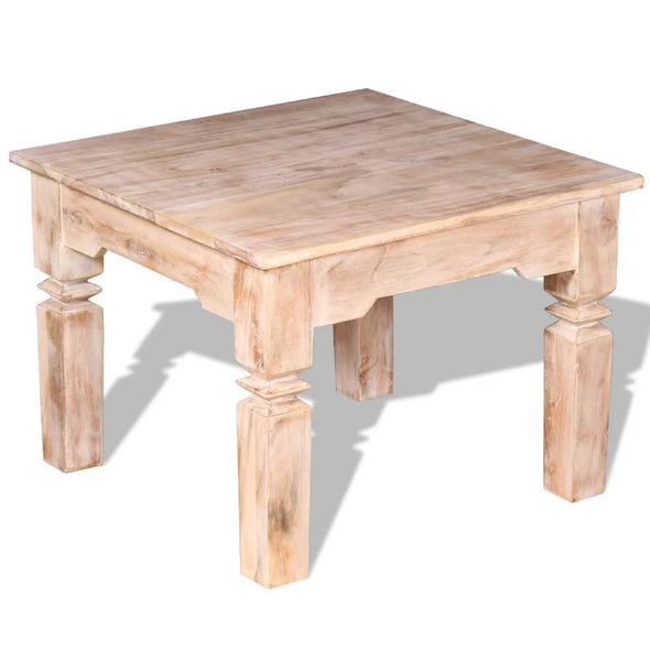 "vidaXL Coffee Table Acacia Wood 23.6""x23.6""x17.7"" - Bestgoodshop"