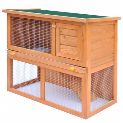Outdoor Rabbit Hutch Small Animal House Pet Cage 1 Door Wood - Bestgoodshop