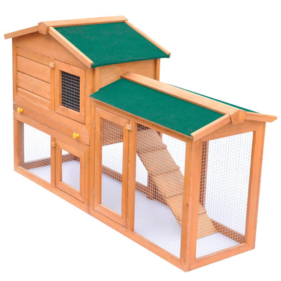 Outdoor Large Rabbit Hutch Small Animal House Pet Cage Wood - Bestgoodshop