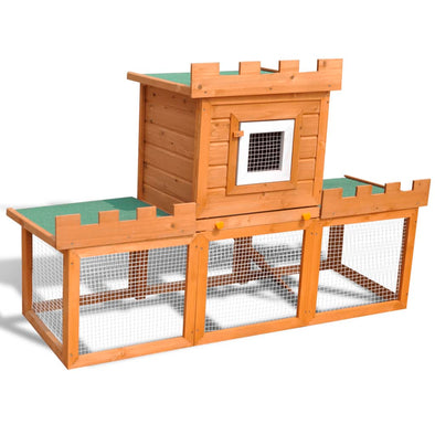 Outdoor Large Rabbit Hutch House Pet Cage Single House - Bestgoodshop