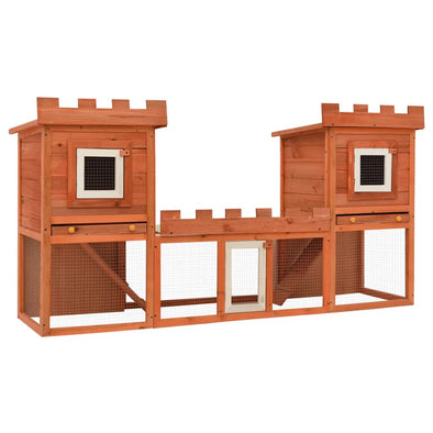Outdoor Large Rabbit Hutch House Pet Cage Double House - Bestgoodshop