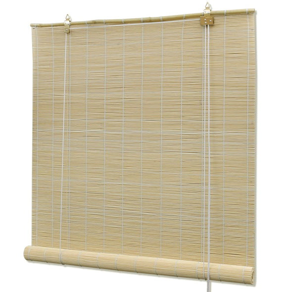 "Natural Bamboo Roller Blinds 47.2"" x 86.6"" - Bestgoodshop"