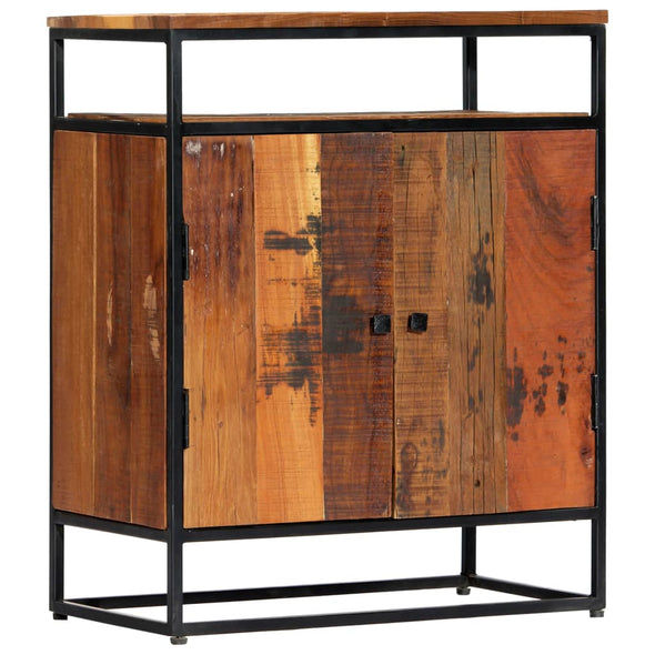 "vidaXL Side Cabinet 23.6""x13.8""x29.9"" Solid Reclaimed Wood and Steel - Bestgoodshop"