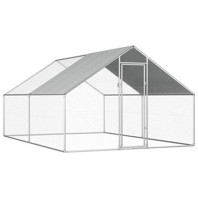 "Outdoor Chicken Cage 9'x13.1'x6'3"" Galvanized Steel - Bestgoodshop"