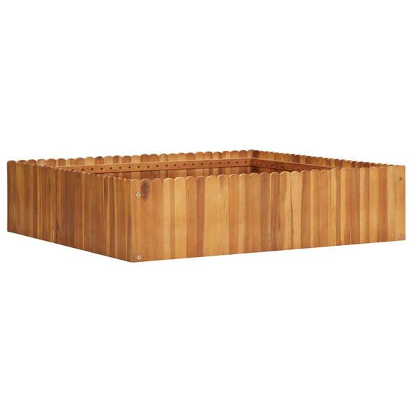 "vidaXL Garden Raised Bed 39.3""x39.3""x9.8"" Solid Acacia Wood - Bestgoodshop"