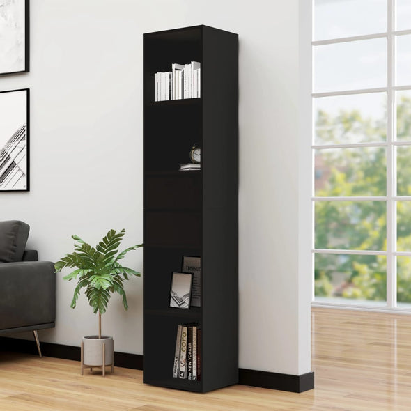 "vidaXL Book Cabinet Black 14.2""x11.8""x67.3"" Chipboard"
