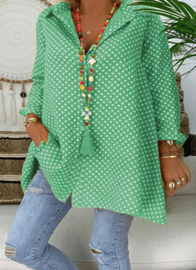 Beautiful Loose Long-Sleeved Blouse - Bestgoodshop