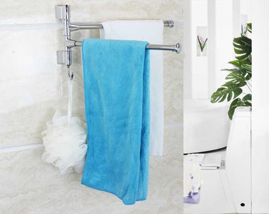 Wear resistant stainless steel towel rack, double pole towel rack - Bestgoodshop