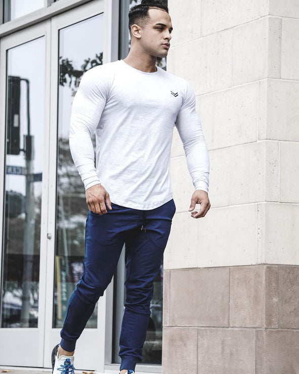 Men Blouse Long Sleeve For Bodybuilding - Bestgoodshop