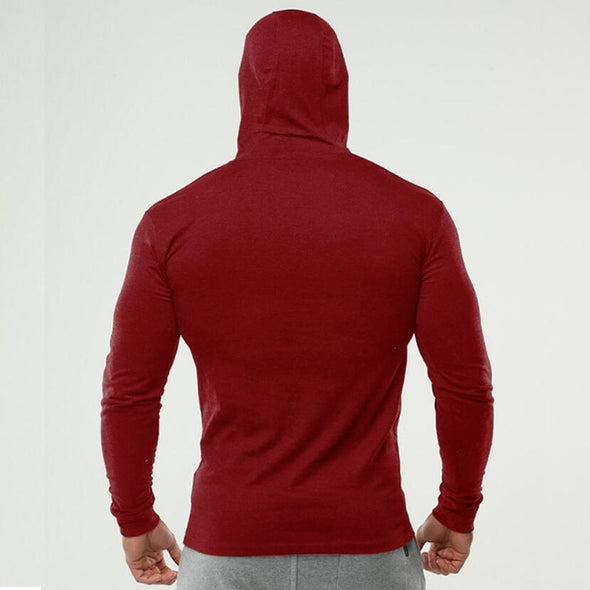 Muscle Man Elasticity Hooded Fitness