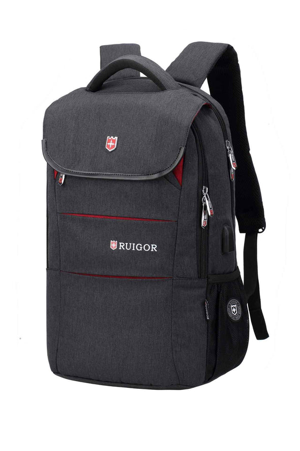 RUIGOR CITY 64 Laptop Backpack Dark Grey - Bestgoodshop