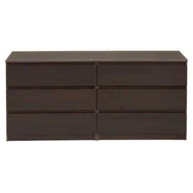 6 Drawer Double Coffee Dresser