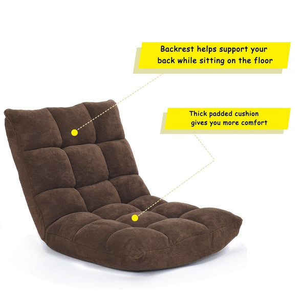 Adjustable 14-Position Cushioned Floor Chair floor seating