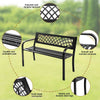 Patio Garden Bench Outdoor Deck Steel Frame I Garden Bench I - Bestgoodshop