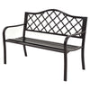 "50"" Patio Garden Bench Loveseats Garden Bench I Patio Bench I Benches For Outside I Wrought Iron Patio Furniture I Metal Bench I - Bestgoodshop"