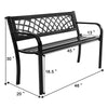 Patio Garden Bench Outdoor Deck Steel Frame I Garden Bench I Patio Bench I Benches For Outside I Wrought Iron Patio Furniture I Garden Benches For Outdoors Clearance I Metal Bench I Front Porch Bench I Outside Bench - Bestgoodshop