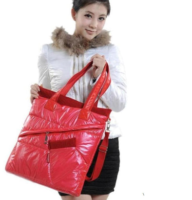 Cotton Winter Women Handbag Shoulder Warm Bag