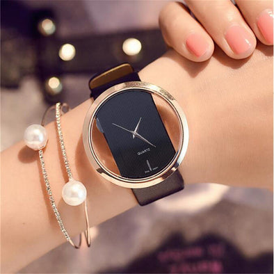 High Quality Leather Band Quartz Watch - Bestgoodshop